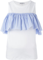 Dondup pleated trim top