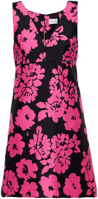 Milly Floral-print Satin-faille Mini Dress