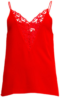 Sienna With Love - Coral Deep V Cut Top - L - Red