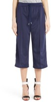 MSGM Women's Crop Wide Leg Track Pants