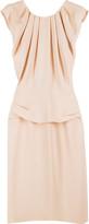 Silk pleated sleeveless dress