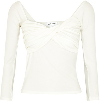 The Line By K Stevie white cotton-blend top