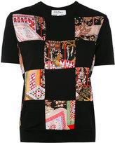 Salvatore Ferragamo patchwork jersey T-shirt - women - Silk/Virgin Wool - XS
