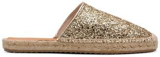 Car Shoe Glitter-Effect Espadrille Mule