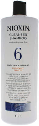 Nioxin 33.8Oz System 6 Cleanser For Medium/Coarse Natural Noticeably Thinning Hair