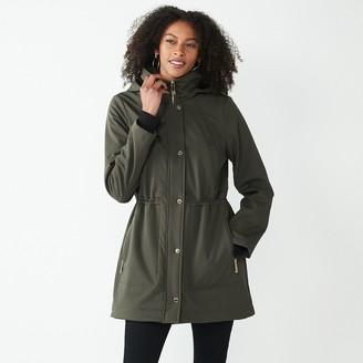 Nine West Women's Fleece-Lined Soft-Shell Jacket