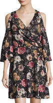 Alexia Admor Cold-Shoulder Floral-Print Dress