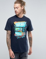 Vans Stencilled T-shirt In Blue Vwbzjey