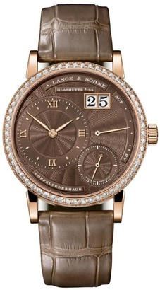 A. Lange & Söhne Rose Gold and Diamond Little Lange 1 Watch 36.8mm