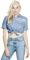 GUESS Originals Cropped Denim Shirt