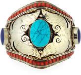 Devon Leigh Turquoise, Coral & Lapis Cuff Bracelet