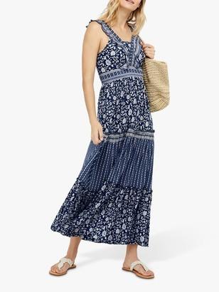 Monsoon Farah Maxi Dress, Blue