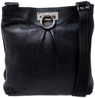 Salvatore Ferragamo Black Leather Crossbody Bag