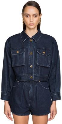 Alberta Ferretti Cropped Cotton Denim Jacket