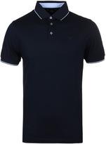 Hackett Navy Slim Fit Knit Placket Polo Shirt