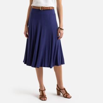 Anne Weyburn Draping Full Midi Skirt