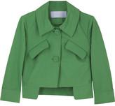 Vera Wang Lavender Cropped faille box jacket