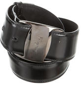 Salvatore Ferragamo Leather Logo-Embellished Belt