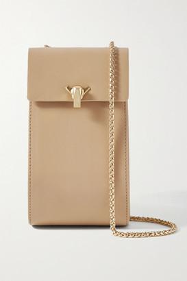THE VOLON Leather Shoulder Bag - Sand