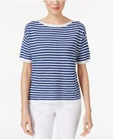 Eileen Fisher Organic Linen-Cotton Striped Top