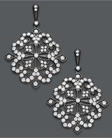 Effy Deco by Diamond and Black Rhodium Diamond Flower Earrings (1-5/8 ct. t.w.) in 14k White Gold