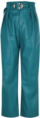 Simon Miller Barr Teal Faux Leather Trousers