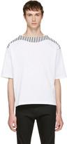 SASQUATCHfabrix. White Boatneck Cutsew T-Shirt