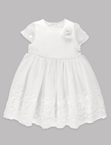 Autograph Embroidered Lace Christening Baby Dress