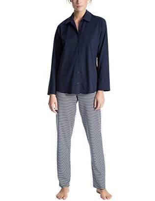 Calida Women's Soft Jersey Fun Pyjama Set, (Peacoat Blue 488), (Size: Small)