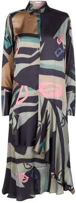 Palmer Harding Palmer/Harding Abstract Print Spicy Dress