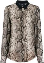 Class Roberto Cavalli snakeskin effect blouse