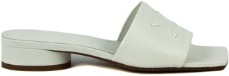 Maison Margiela White Leather Low Sandals