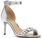 MICHAEL Michael Kors Sylvie Snake-Embossed Sandals