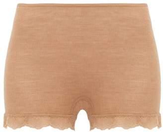 Hanro Woolen Lace Boy-short Briefs - Womens - Brown
