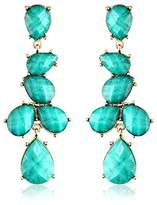 Amrita Singh Turquoise-Color Teardrop Drop Earrings