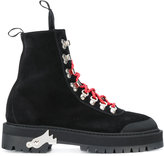 Off-White lace up booties - women - Leather/Foam Rubber - 38