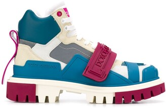 Dolce & Gabbana Colour-Block Trekking Boots