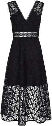 Sandro Floral Lace Midi Dress