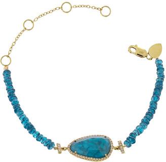 Meira T 14K 2.53 Ct. Tw. Diamond & Apatite Bracelet