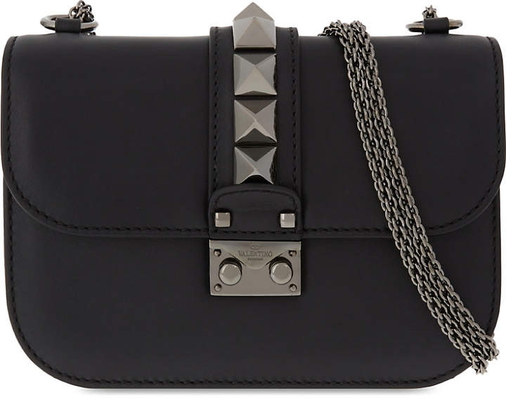 Valentino Studded leather pushlock shoulder bag