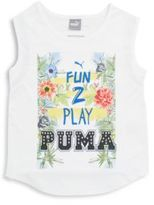 Puma Toddler's & Little Girl's Cutout Graphic Tank Top
