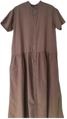 Pas De Calais Beige Cotton Dress for Women