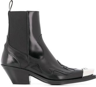Versace Contrast Toe Western Boots