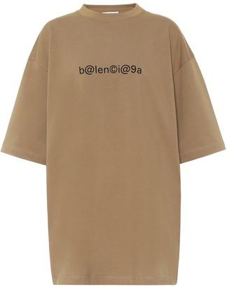 Balenciaga Logo cotton-jersey oversized T-shirt