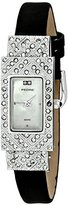 Pedre Women's 7695SX Dress Silver-Tone with Suede Strap Watch