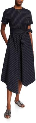 Brunello Cucinelli Cotton-Poplin Short-Sleeve Dress