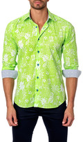 Jared Lang Long Sleeve Floral Print Semi-Fitted Shirt