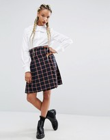 Sister Jane Campus Skirt In Check