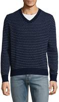 Brooks Brothers Men's V-Neck Wool Sweater