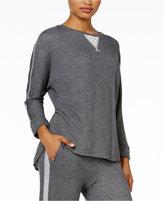 Karen Neuburger Lace-Inset Pajama Sweatshirt